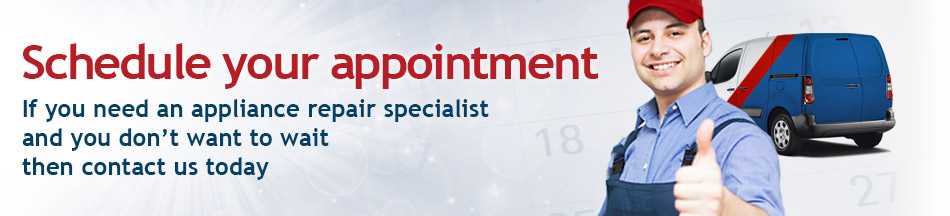 Schedule your appointment - if you need a washing machine repair specialist and you don't want to wait then call us today