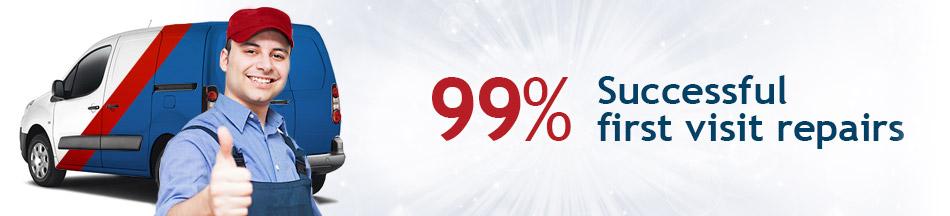 99% Successful first visit repairs