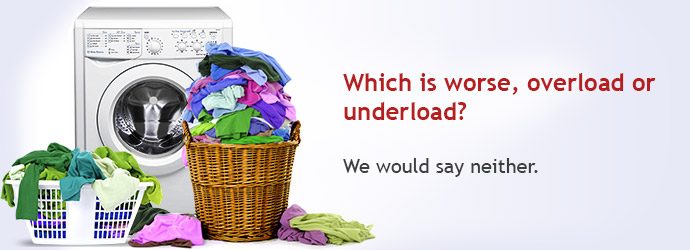 Am I overloading or under loading my washing machine?