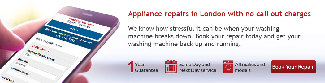 Appliance repairs in London with no call out charges
